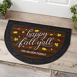 Happy Fall Y'all Half Round Doormat