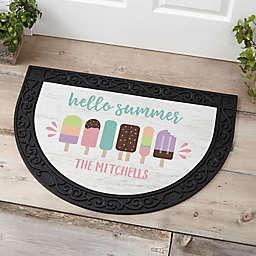 Summer Popsicle Half Round Doormat