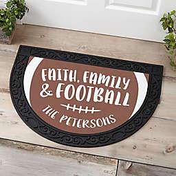Football Season Half Round Doormat
