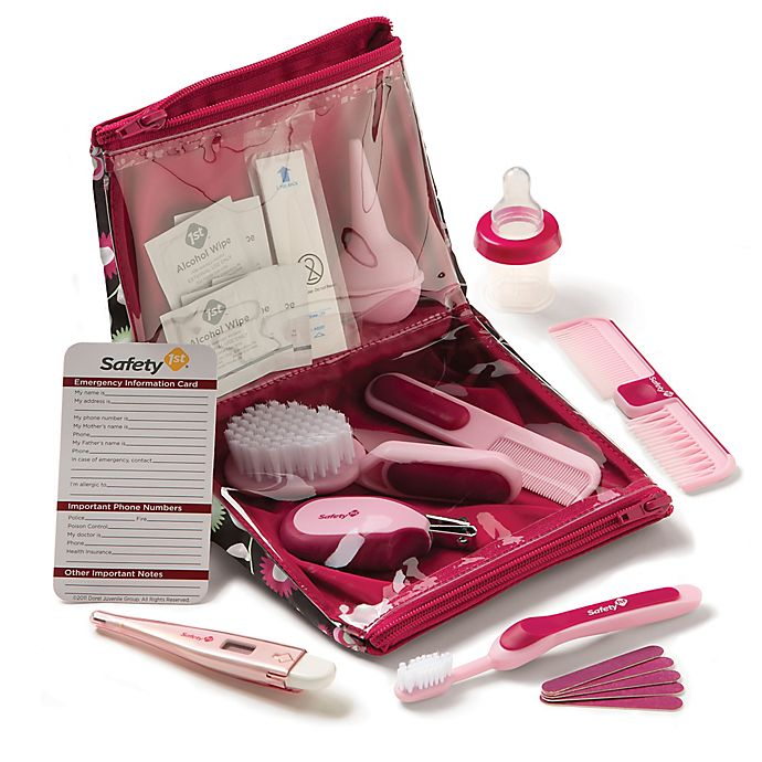 Alternate image 1 for Safety 1st® Deluxe Healthcare and Grooming Kit Pink