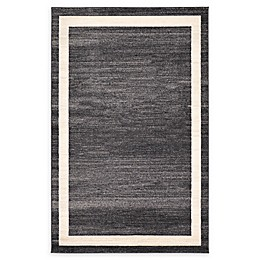 Unique Loom Maria Del Mar Rug in Black