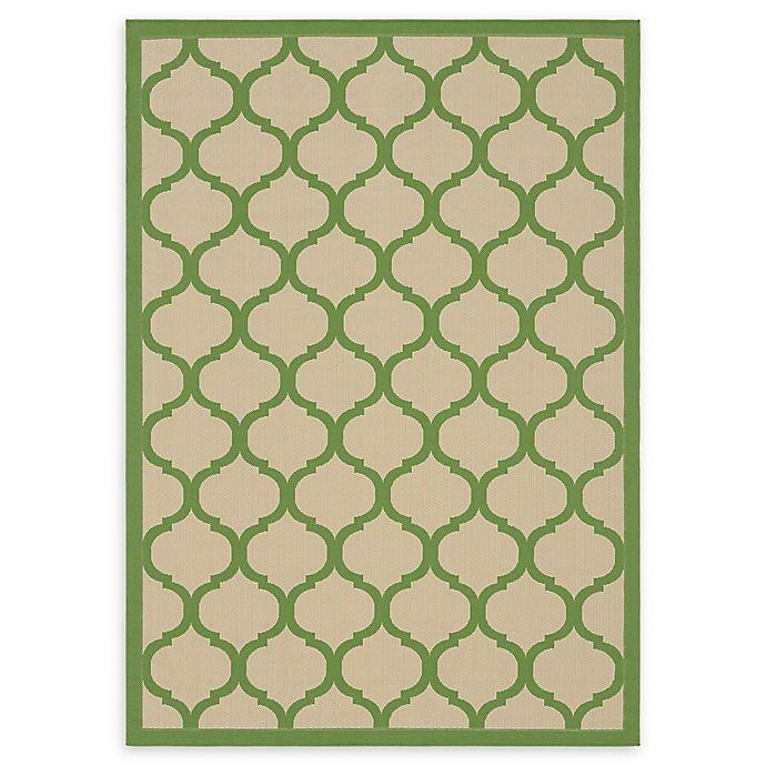 Alternate image 1 for Unique Loom Moroccan Outdoor 7' X 10' Powerloomed Area Rug in Beige/green