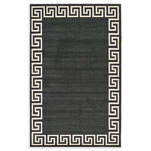 Alternate image 1 for Unique Loom Modern Athens Rug in Charcoal