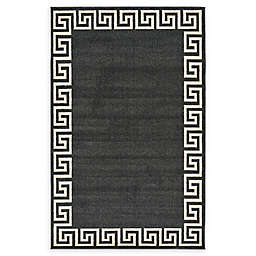 Unique Loom Modern Athens Rug in Charcoal