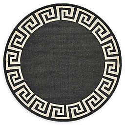 Unique Loom Modern Athens 6' Round Area Rug in Charcoal