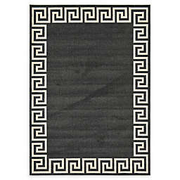 Unique Loom Modern Athens 7' x 10' Area Rug in Charcoal