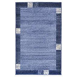 Unique Loom Sarah Del Mar 3'3 x 5'3 Area Rug in Light Blue