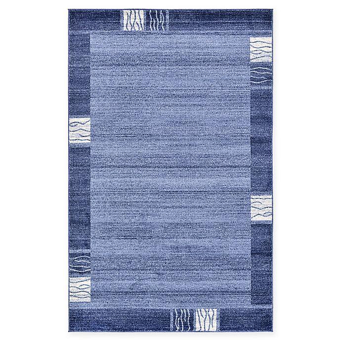 Alternate image 1 for Unique Loom Sarah Del Mar 5' X 8' Powerloomed Area Rug in Light Blue