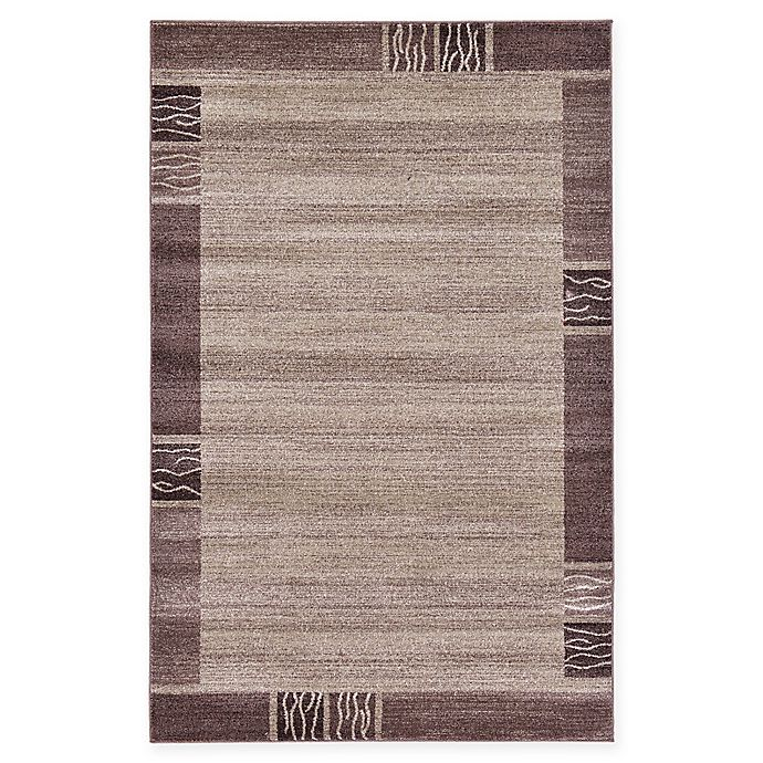 Alternate image 1 for Unique Loom Sarah Del Mar 5' X 8' Powerloomed Area Rug in Light Brown