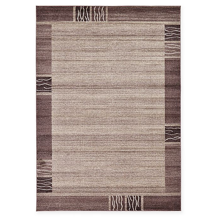Alternate image 1 for Unique Loom Sarah Del Mar 7' X 10' Powerloomed Area Rug in Light Brown