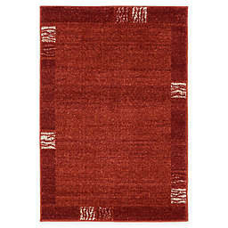 Unique Loom Sarah Del Mar 2'2 x 3' Powerloomed Accent Rug in Rust Red