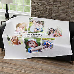 Six Photo Collage Fleece Blanket