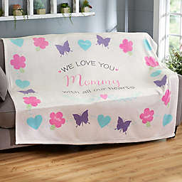 All Our Hearts Fleece Blanket