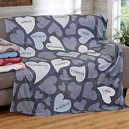 Loving Hearts Fleece Blanket