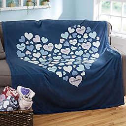 Heart of Hearts 60-Inch x 80-Inch Fleece Blanket