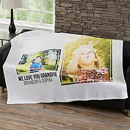 Two Photo Collage Fleece Blanket