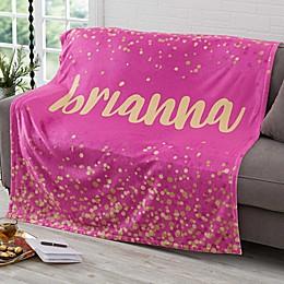 Sparkling Name Fleece Blanket