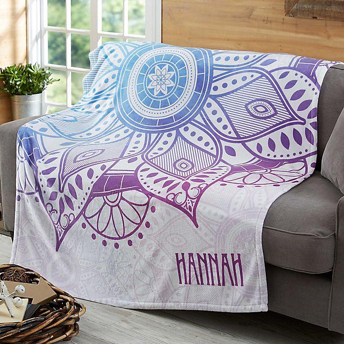 Mandala Fleece Blanket Bed Bath Beyond