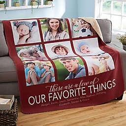 My Favorite Things Sherpa Blanket