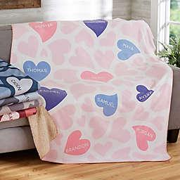 Loving Hearts Sherpa Blanket