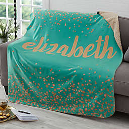 Sparkling Name Sherpa Blanket