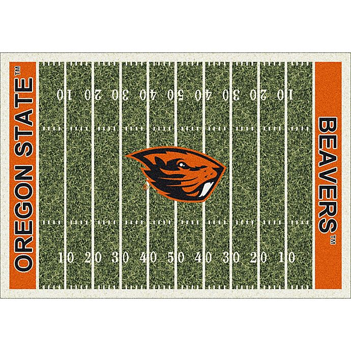 Alternate image 1 for Oregon State University 3-Foot 10-Inch x 5-Foot 4-Inch Small Home Field Rug