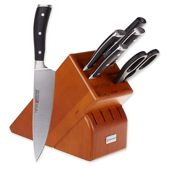 Wusthof Classic Ikon 7 Piece Knife Block Set In Cherry Bed Bath Beyond