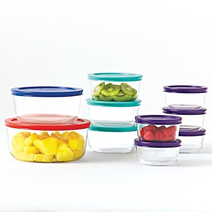 Alternate image 1 for Pyrex® 20-Piece Multicolor Food Storage Set