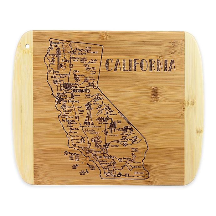 Alternate image 1 for Totally Bamboo® California Slice of Life Destination Cutting/Serving Board