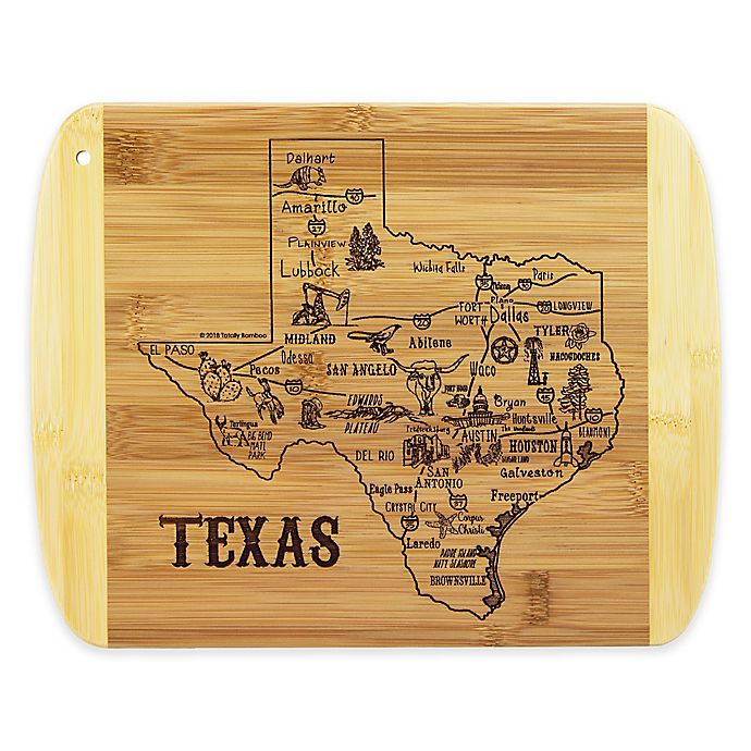 Alternate image 1 for Totally Bamboo® Texas Slice of Life Destination Cutting/Serving Board