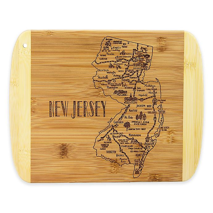 Alternate image 1 for Totally Bamboo® New Jersey Slice of Life Destination Cutting/Serving Board