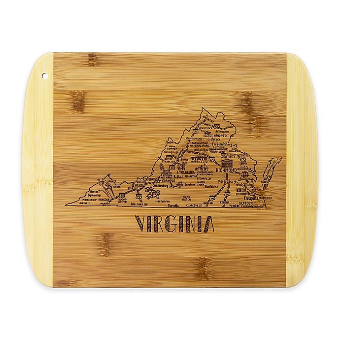 Alternate image 1 for Totally Bamboo® Virginia Slice of Life Destination Cutting/Serving Board