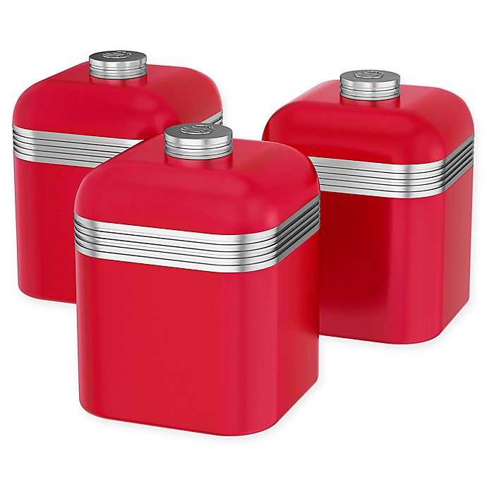 Alternate image 1 for Salton® 3-Piece 1-Liter Retro Canister Set