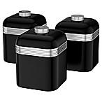 Salton® 3-Piece 1-Liter Retro Canister Set in Black