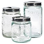 Mason Craft & More® 3-Piece Pop-Up Canister Set in Clear