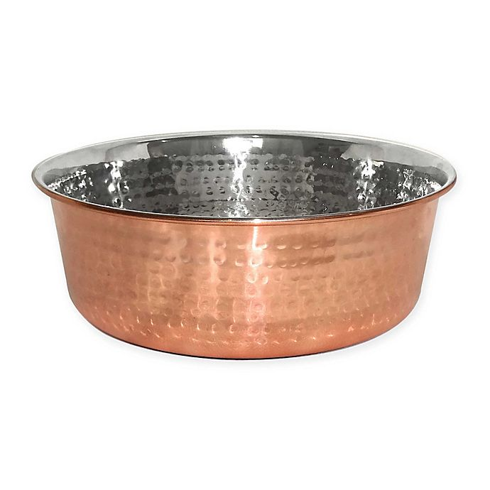 Alternate image 1 for Neater Pet Brands® Hammered Stainless Steel Pet Bowl