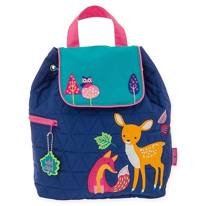 Alternate image 1 for Stephen Joseph® Woodland Quilted Backpack in Blue