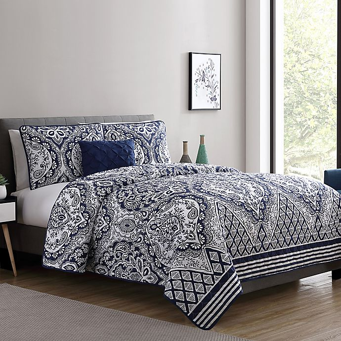 Alternate image 1 for VCNY Home Tori Twin XL Quilt Set in Navy