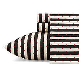 Wonderland Stripe Film Noir Twin XL Sheet Set
