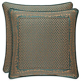J. Queen New York™ Montgomery Lattice Square Throw Pillow in Emerald