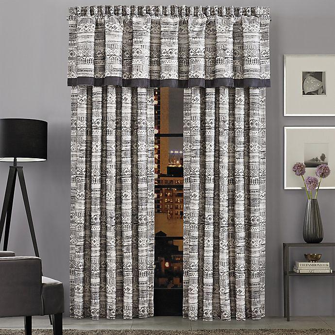 Alternate image 1 for J.Queen New York™ Brandon 84-Inch Rod Pocket Window Curtain Panel Pair in Graphite