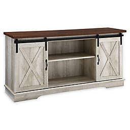 Forest Gate™ Englewood 58-Inch Barn Door TV Stand in White Oak