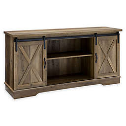 Forest Gate 58 Englewood Farmhouse Sliding Barn Door Tv Stand Console