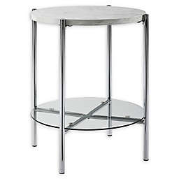 "Forest Gate 20"" Giselle Modern Round Side Table"