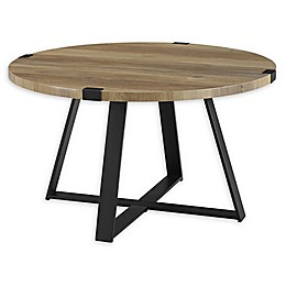 Forest Gate Sage Industrial Modern Round Coffee Table