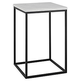 "Forest Gate 16"" Vivian Modern Faux Concrete Side Table"