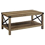 Forest Gate™ Englewood 40-Inch Coffee Table in Rustic Oak