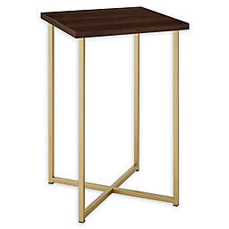 """Forest Gate 16"""" Joan Modern Faux Marble Square Side Table"""