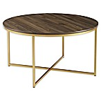 "Forest Gate 36"" Connie Modern Glam Coffee Table in Dark Walnut"