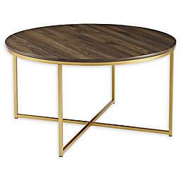 Forest Gate™ Connie 36-Inch Round Coffee Table in Dark Walnut